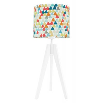 Lampa na stolik trójkąciki kolorowe