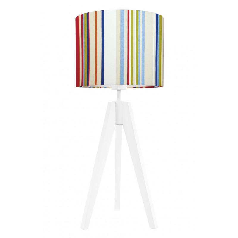 Lampa na stolik kolorowe paski