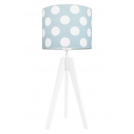 Dots on mint-turquoise table lamp