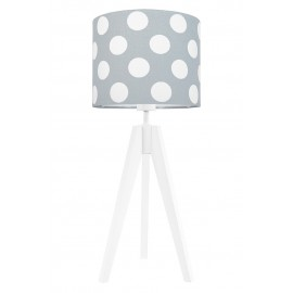 Dots on grey table lamp
