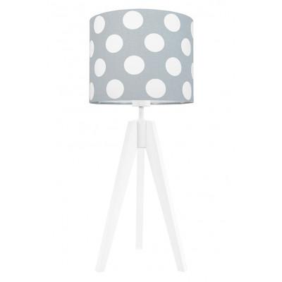 Lampa na stolik grochy na szarym