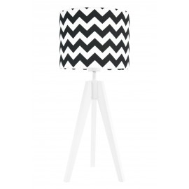 Black chevron table lamp