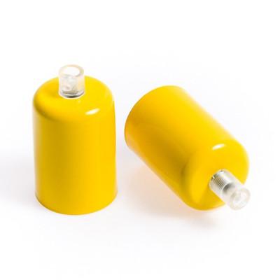 Oprawka metalowa E27 lakierowana w kolorze żółtym