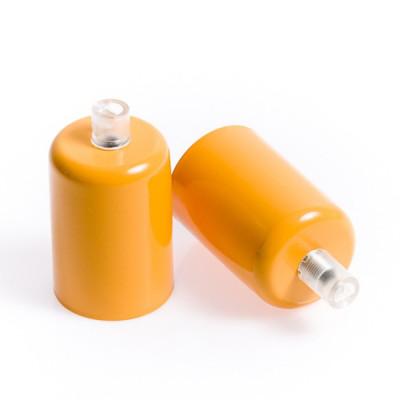 Metal lamp holder E27 lacquered in light orange