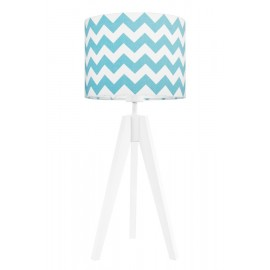 Turquise chevron table lamp