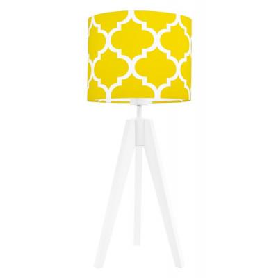 Lampa na stolik koniczyna marokańska żółta