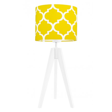 Yellow morrocan clover table lamp