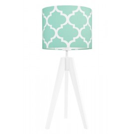 Mint morrocan clover table lamp