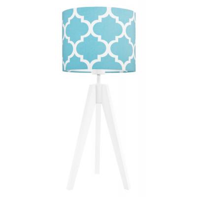 Lampa na stolik koniczyna marokańska turkusowa