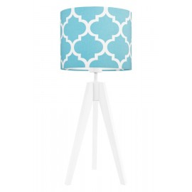 Turquise morrocan clover table lamp
