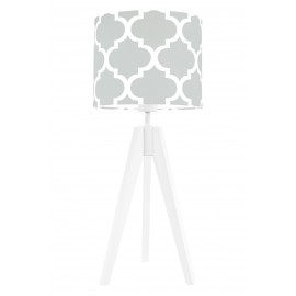 Grey morrocan clover table lamp