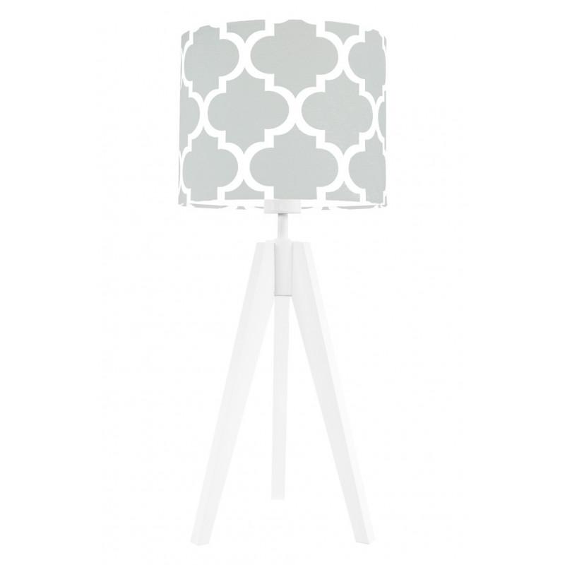 Lampa na stolik koniczyna marokańska szara