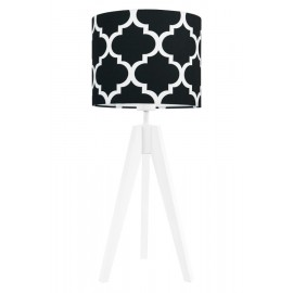 Black morrocan clover table lamp