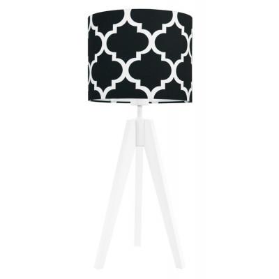 Lampa na stolik koniczyna marokańska czarna