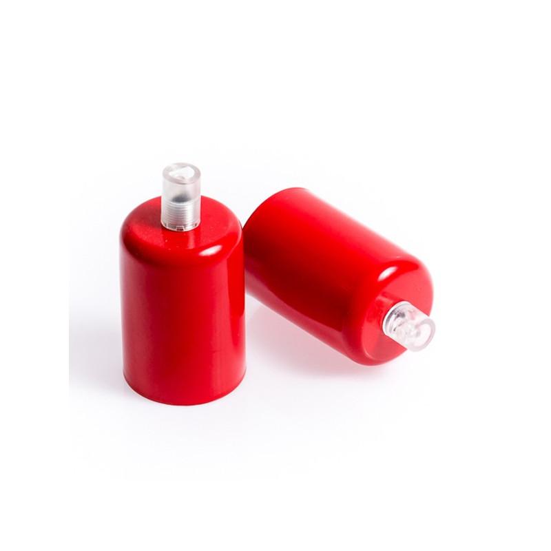 Oprawka metalowa E27 lakierowana w kolorze czerwonym
