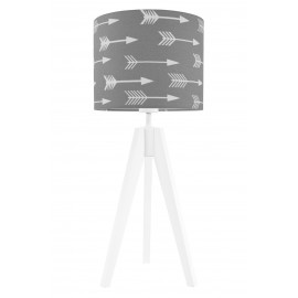 Arrows on grey table lamp