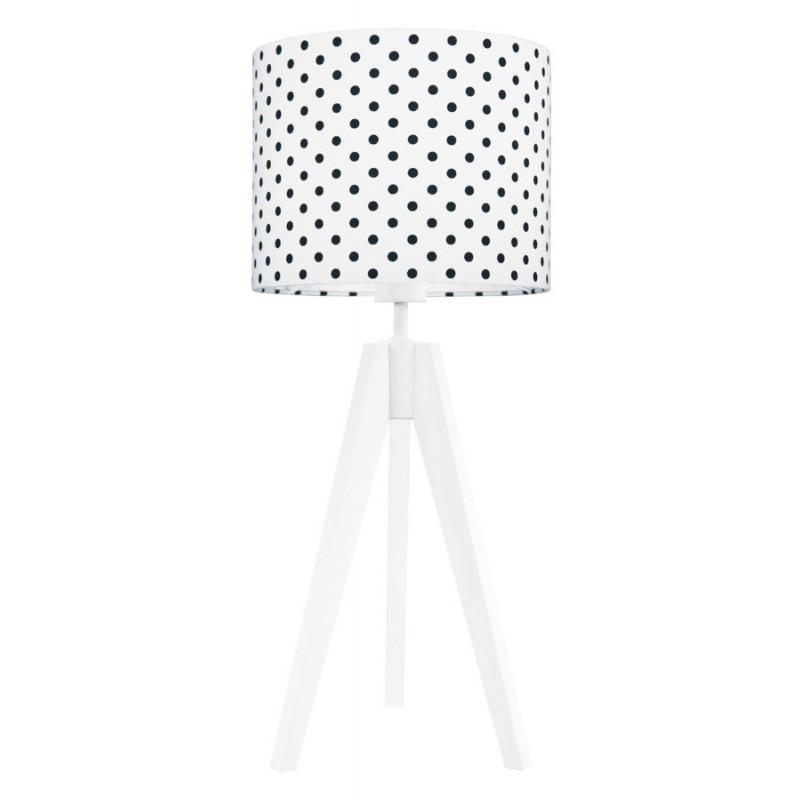 Lampa na stolik kropki czarne