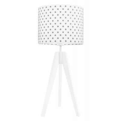 Lampa na stolik kropki szare