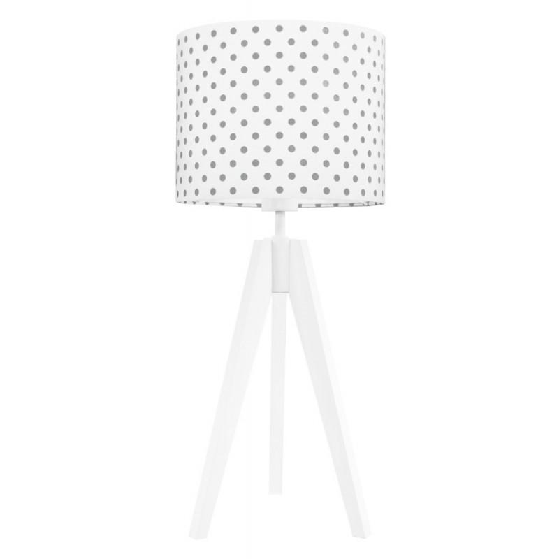 Grey dots table lamp