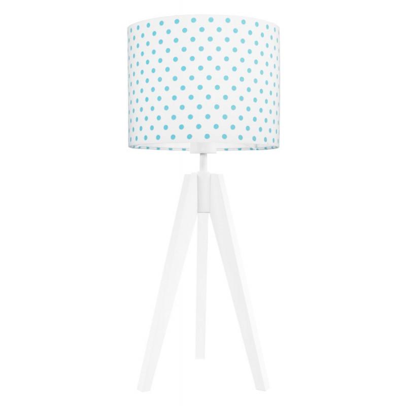 Lampa na stolik kropki turkusowe