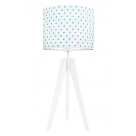 Turquise dots table lamp