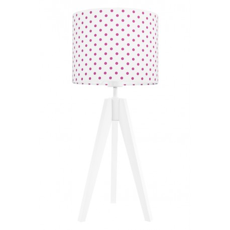 Lampa na stolik kropki amarantowe