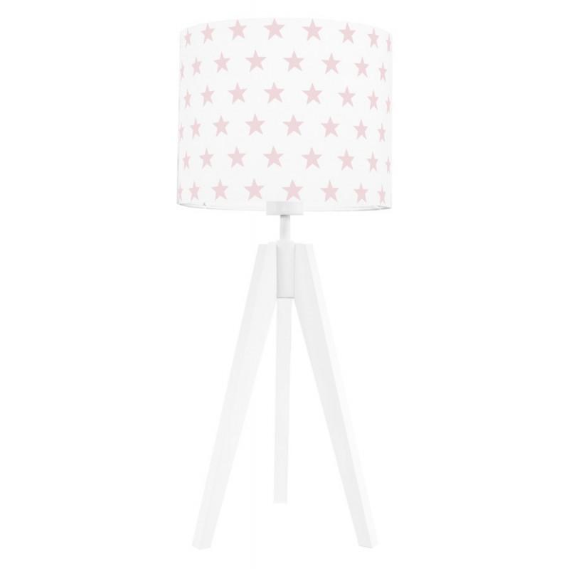 Lampa na stolik gwiazdki różowe