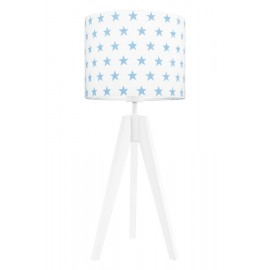 Light blue stars table lamp