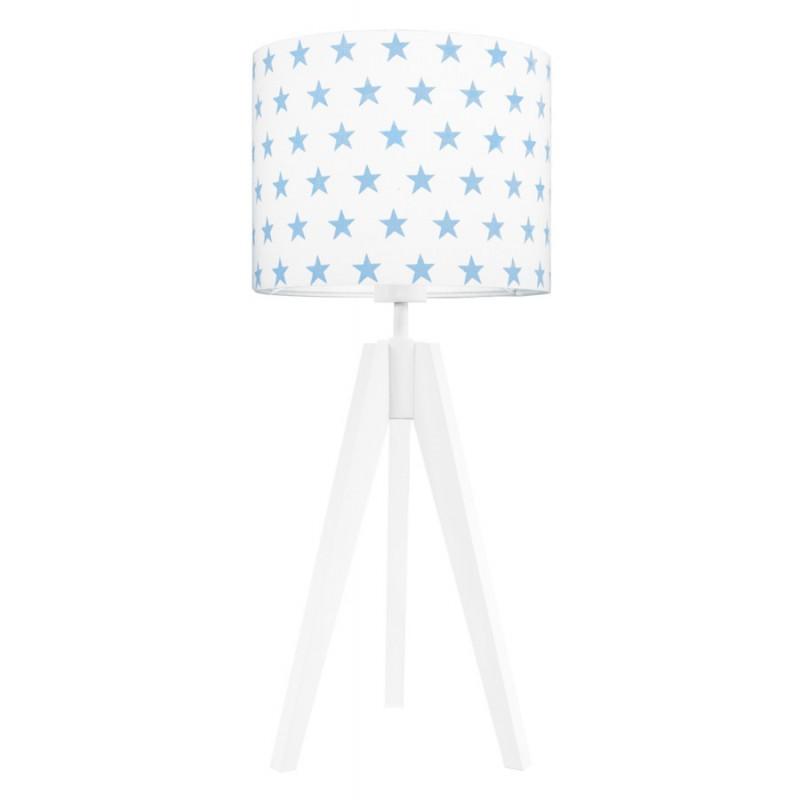Light blue stars table lamp
