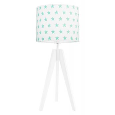 Lampa na stolik gwiazdki miętowe