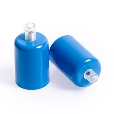 Oprawka metalowa E27 lakierowana w kolorze niebieskim