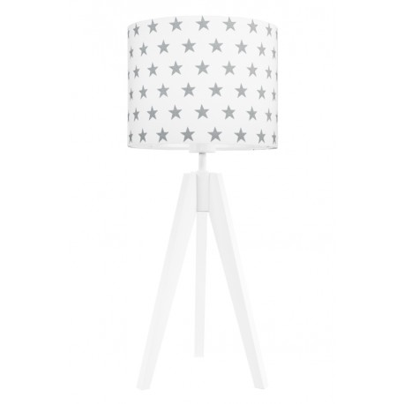 Lampa na stolik gwiazdki szare