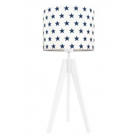 Navy blue stars table lamp