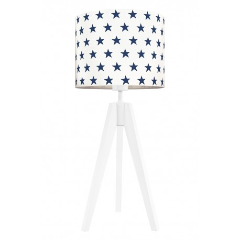 Lampa na stolik gwiazdki granatowe
