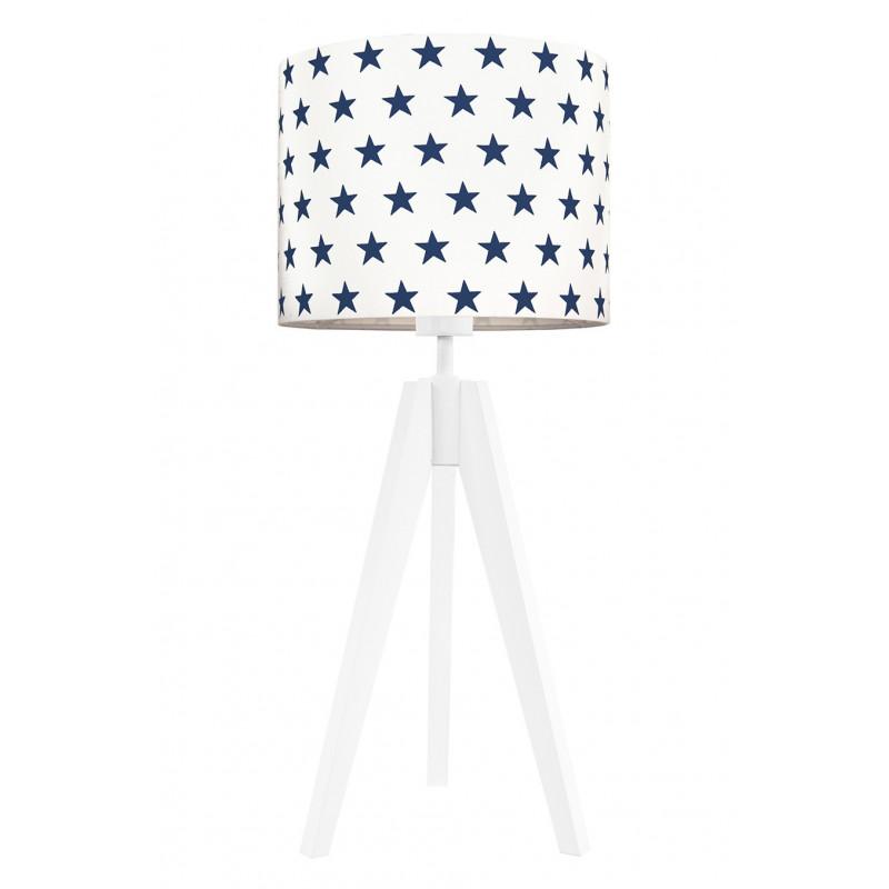 Navy blue stars table lamp