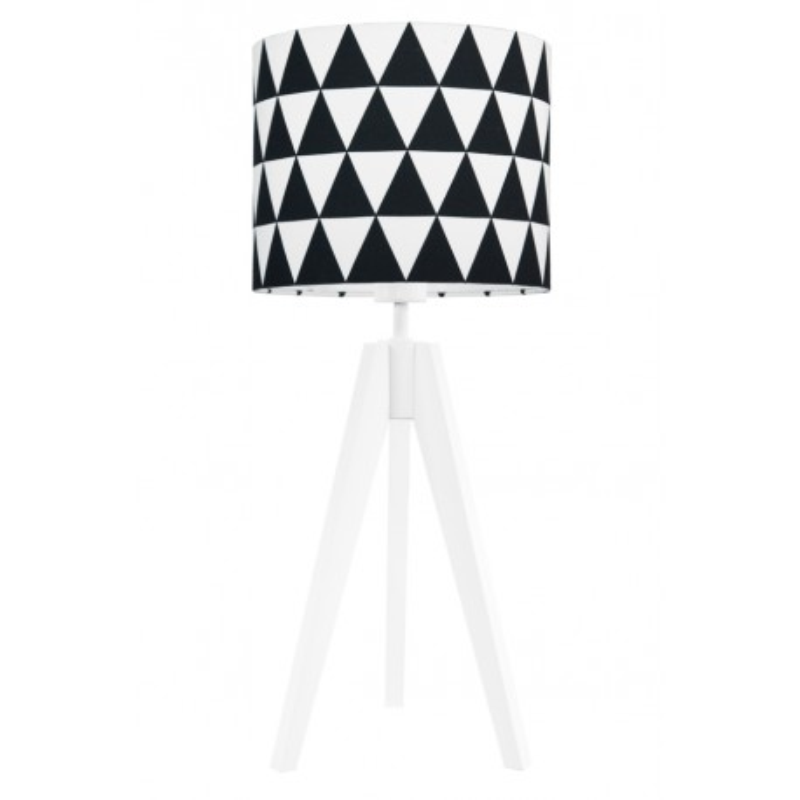 Lampa na stolik czarne trójkąty