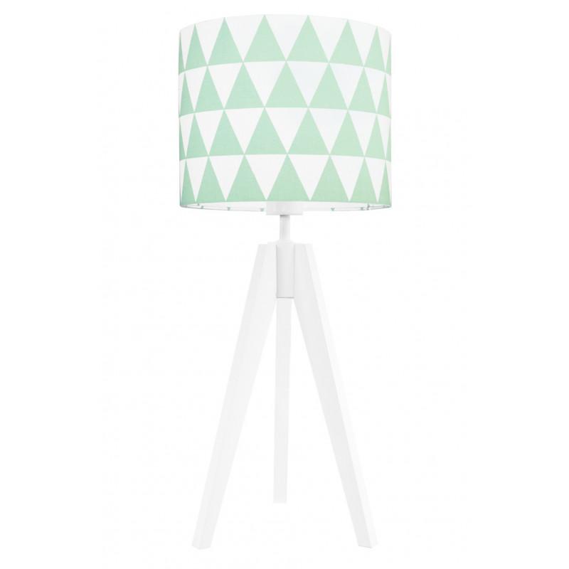Lampa na stolik miętowe trójkąty