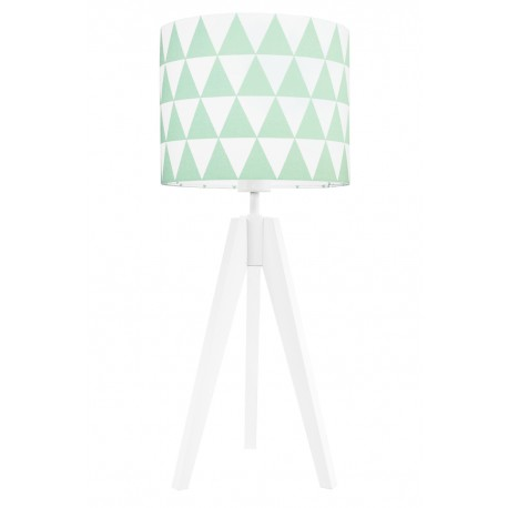 Mint triangles table lamp