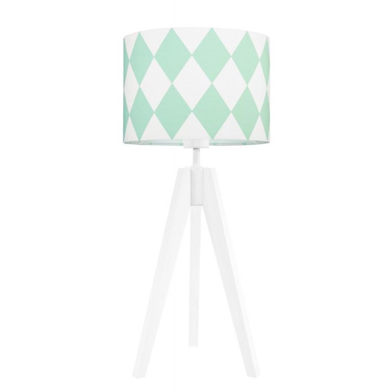 Lampa na stolik romby miętowe