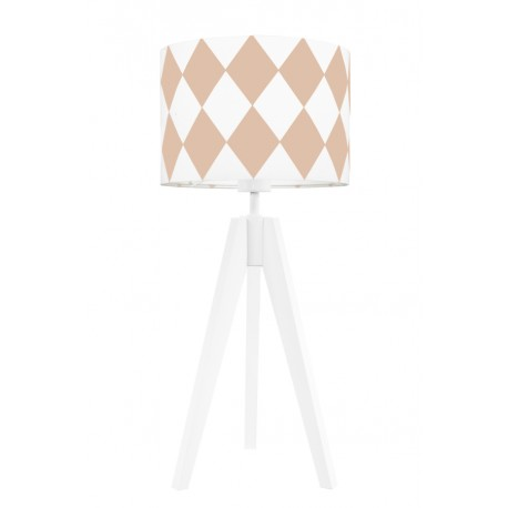 Dirty pink diamonds table lamp