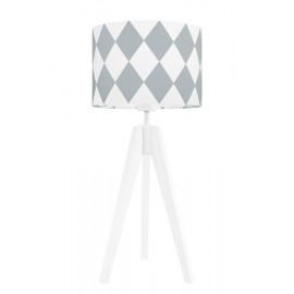 Grey diamonds table lamp