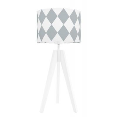 Lampa na stolik romby szary