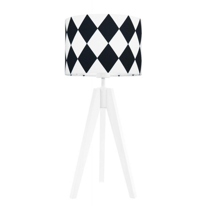 Lampa na stolik romby czarne