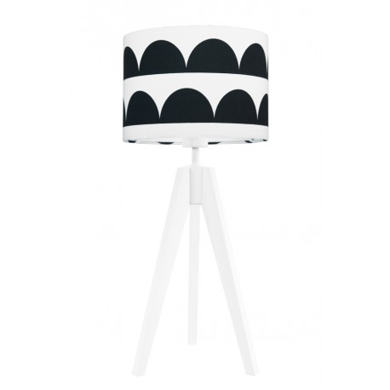 Black half-moons table lamp