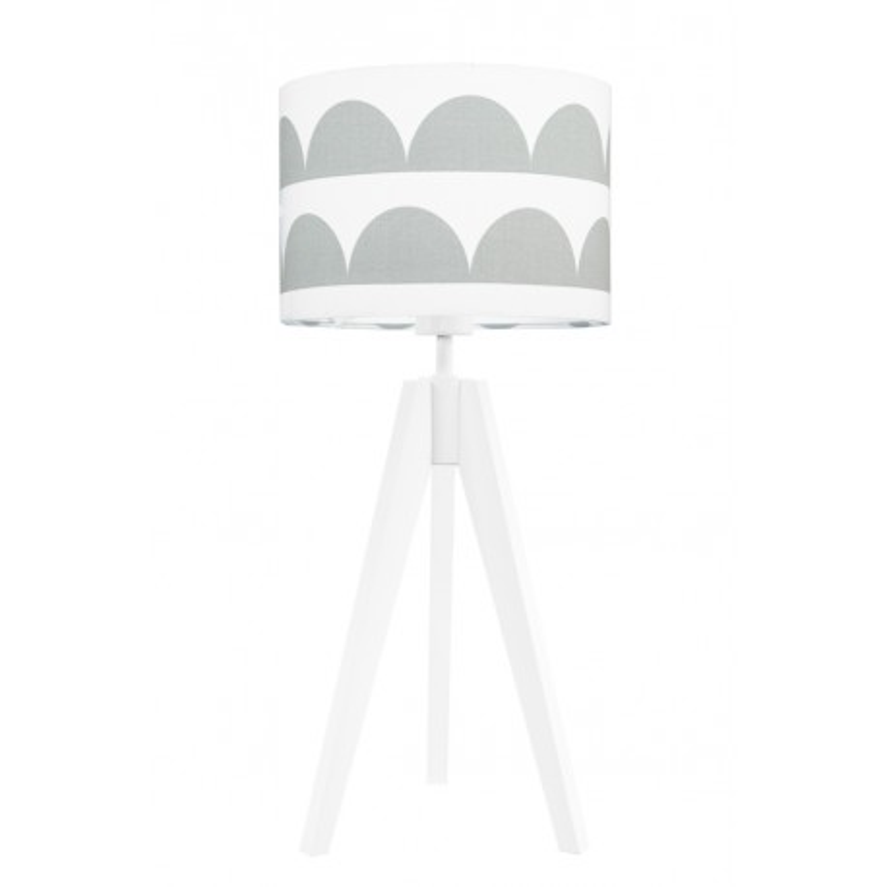 Lampa na stolik półksiężyce szare