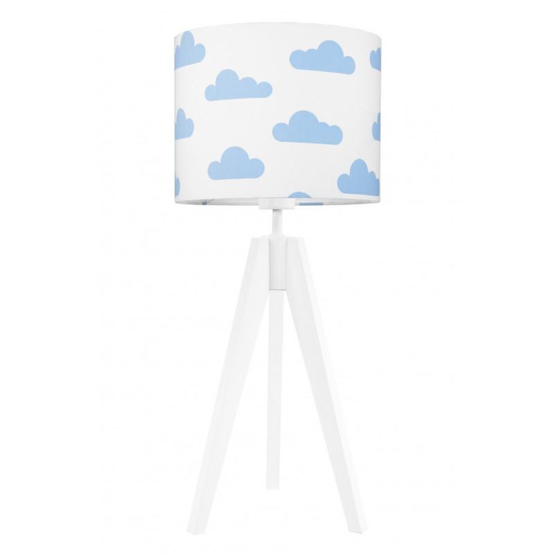 Lampa na stolik chmurki błękitne