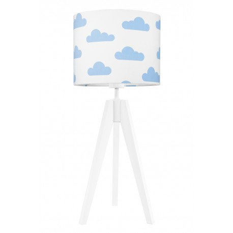 Light blue clouds table lamp