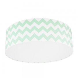 Mint Chevron Plafond Ceiling Lamp