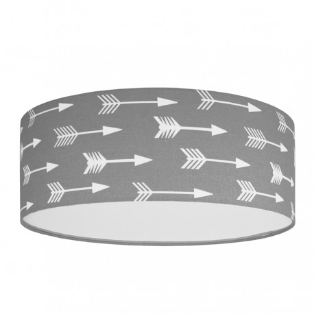 White Arrows on Grey Plafond Ceiling Lamp