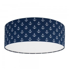 Anchors on navy blue Plafond Ceiling Lamp